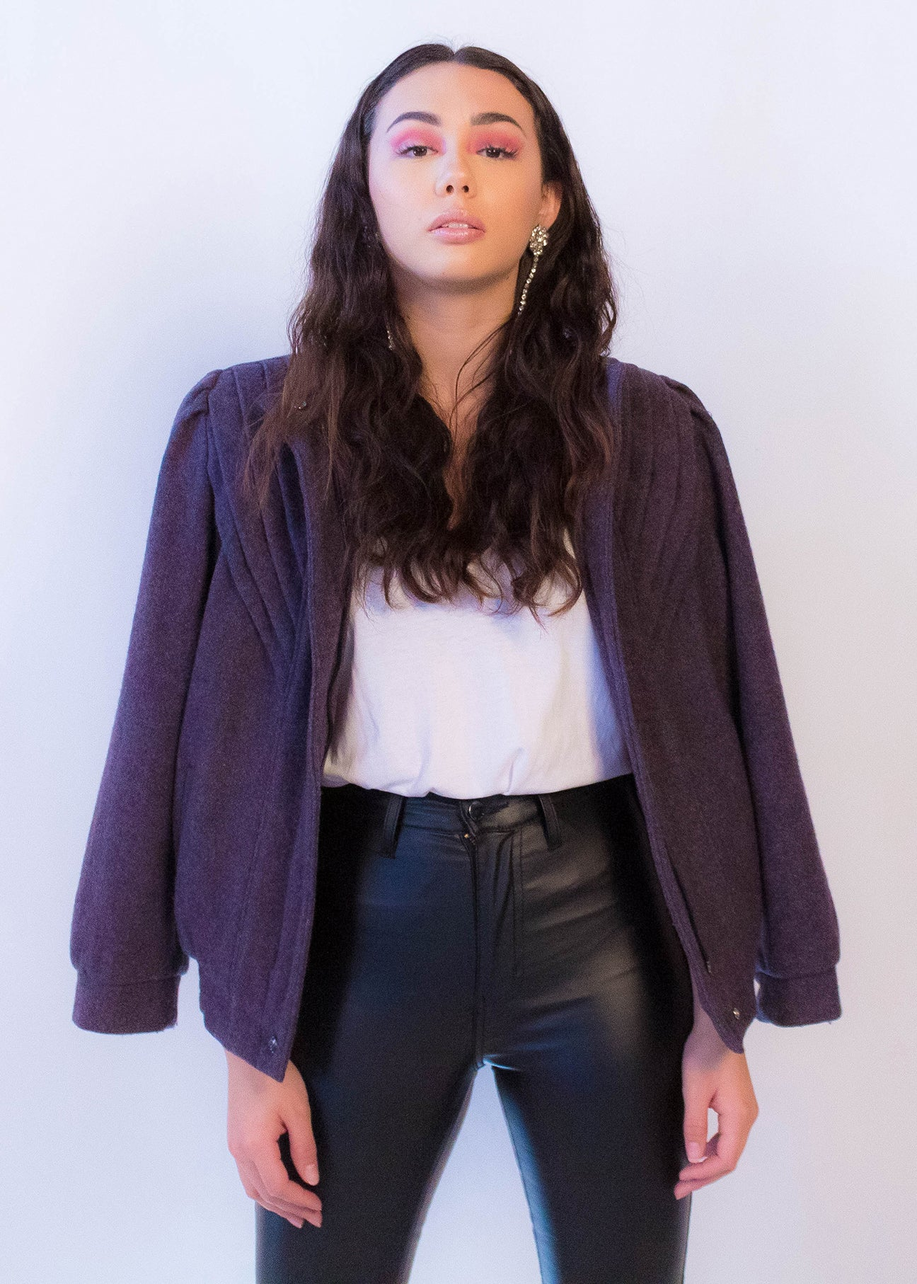 80s Wool Bomber Jacket