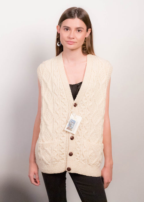 80s Fisherman's Cable-Knit Vest
