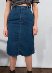 80s Calvin Klein Denim Skirt