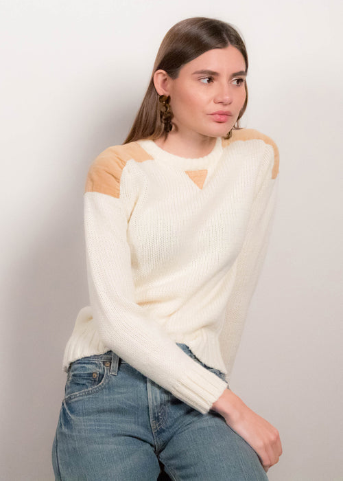 70s Knit Corduroy Sweater