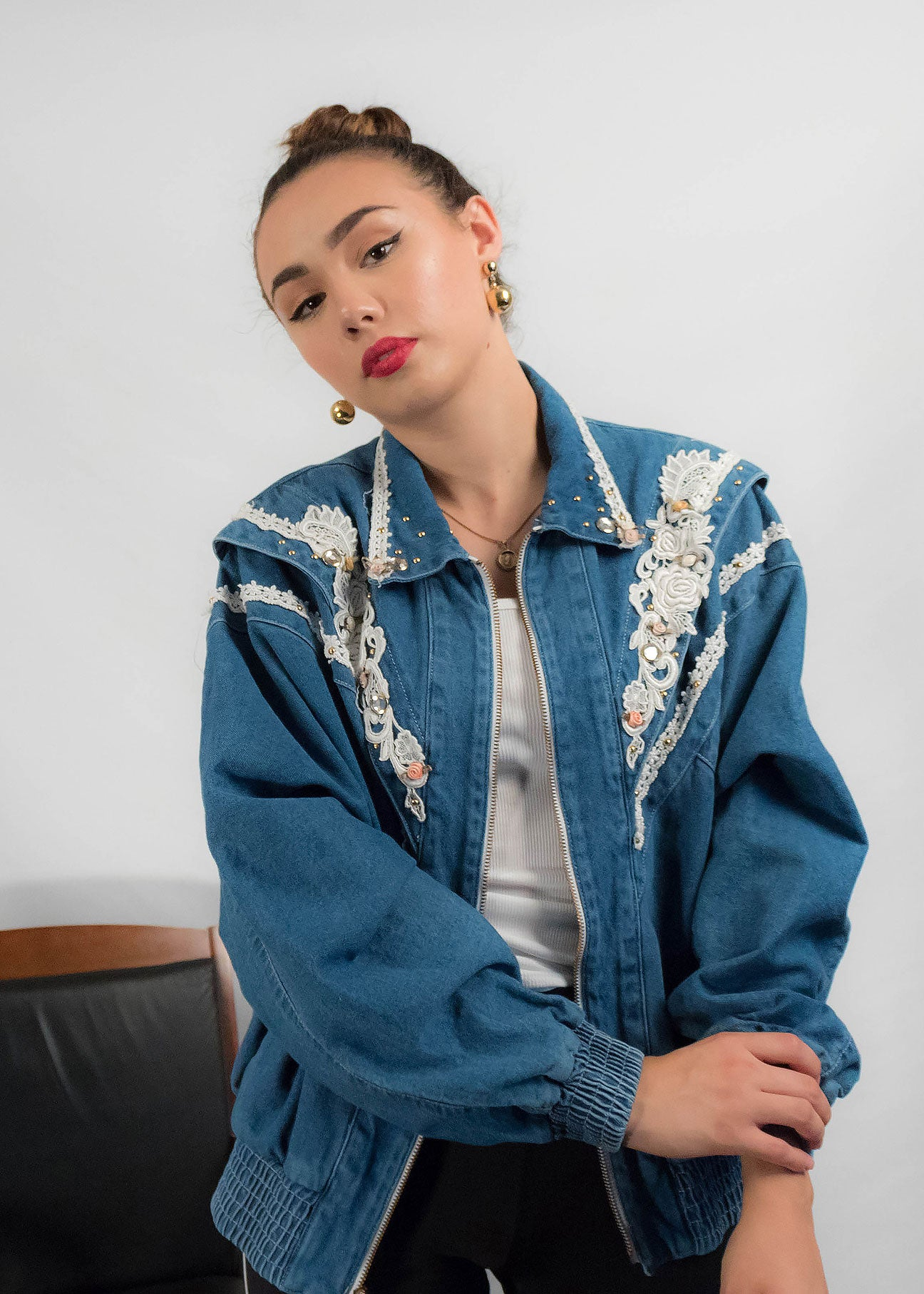 80s Embellished Denim Jacket