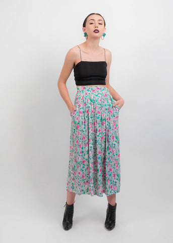 60s Paisley Wide-Leg Pants
