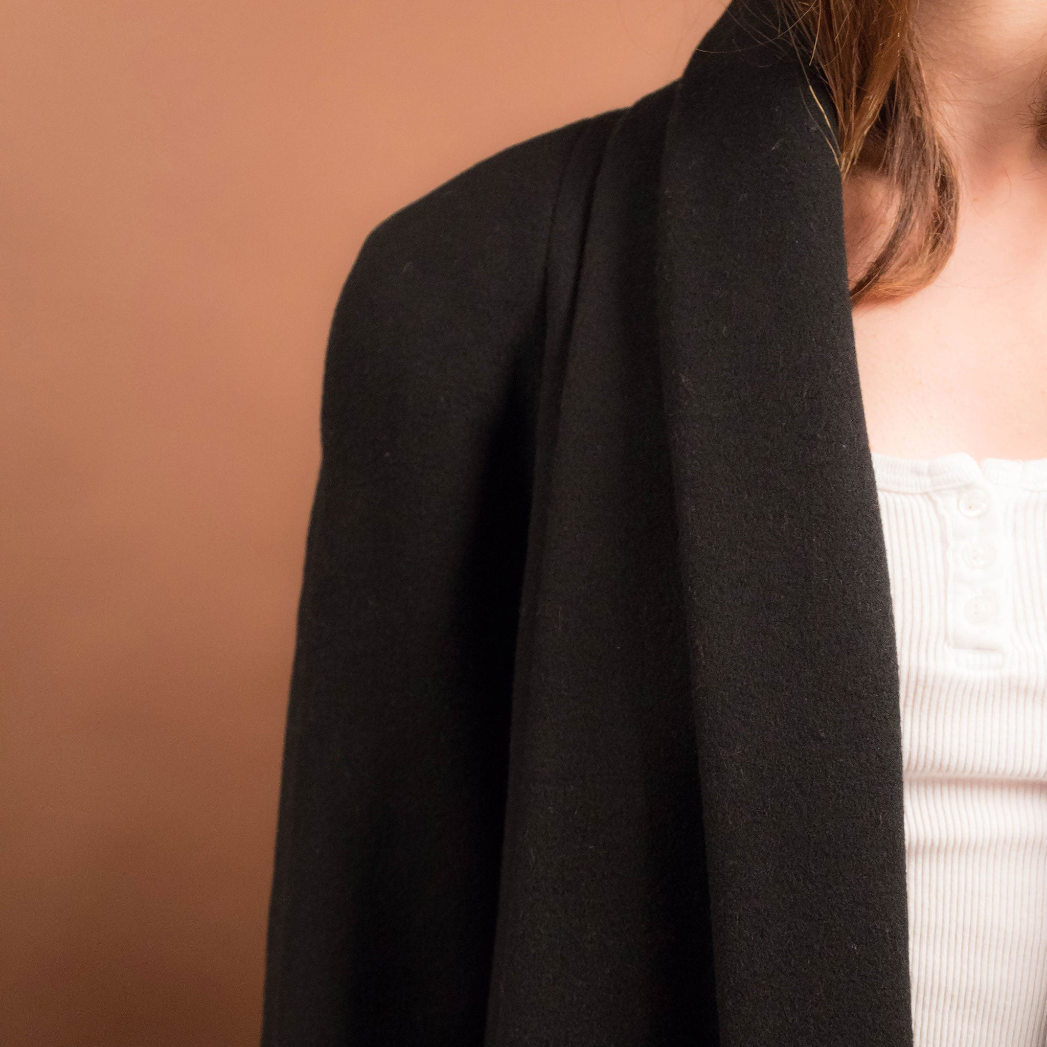80s Black Trapeze Coat