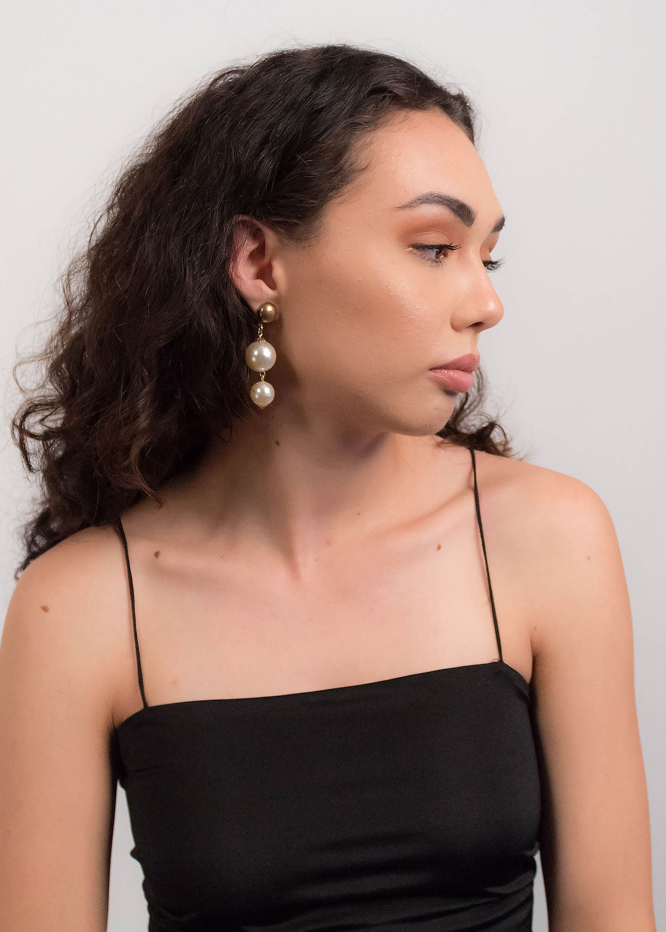 80s Faux Pearl Drop Earrings