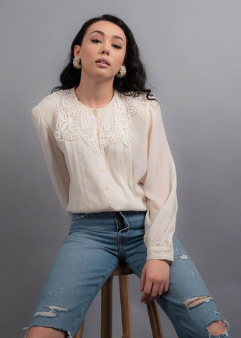 90s Metallic Satin Blouse