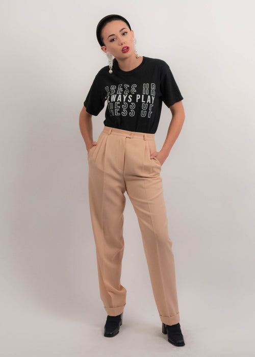 80s Italian Tailored Jacquard Trousers