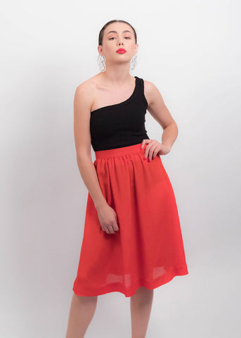 80s Gradient Pleated Skirt