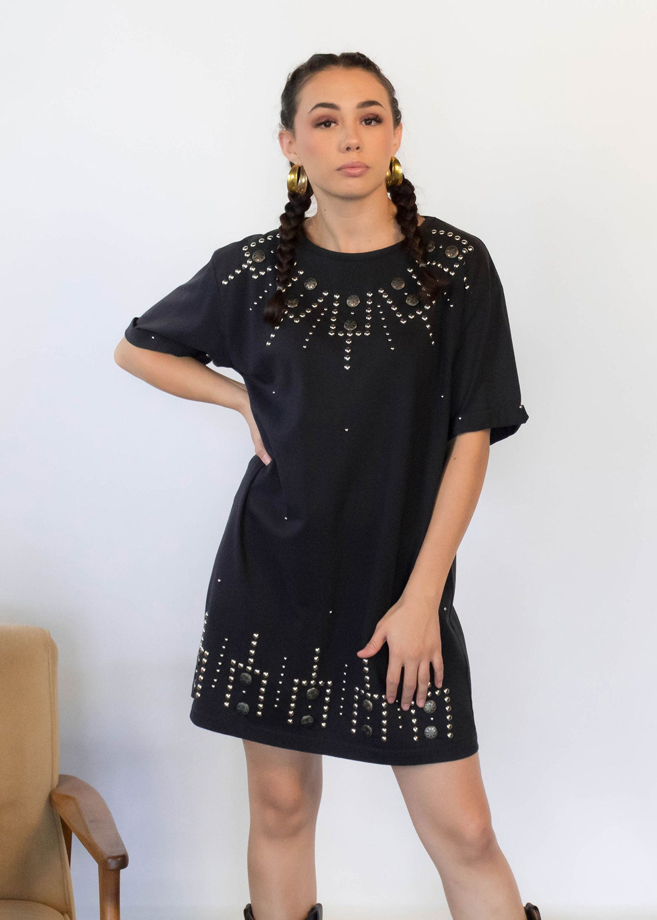 80s Southwestern Studded Dress
