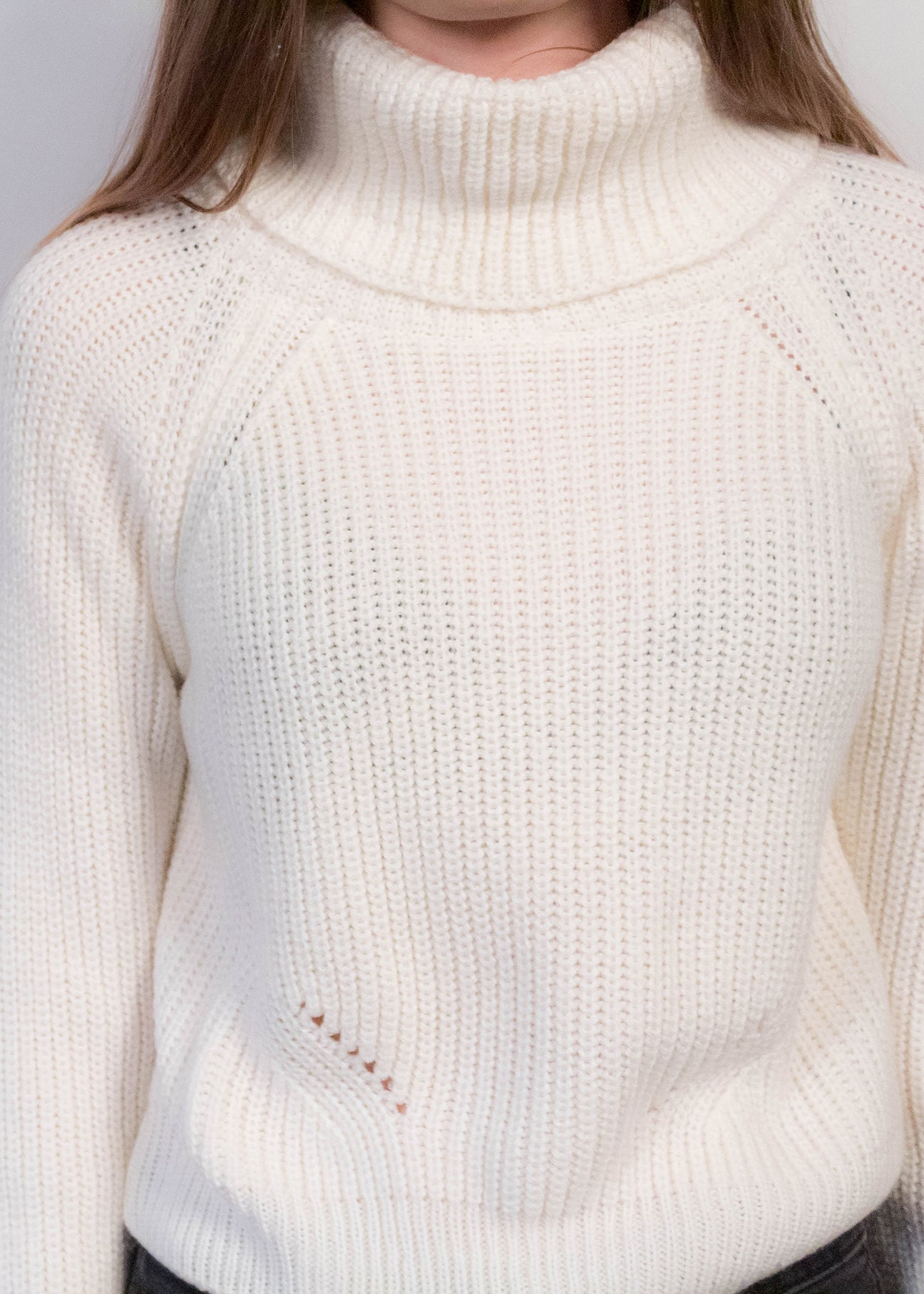 80s Pointelle Crop Sweater
