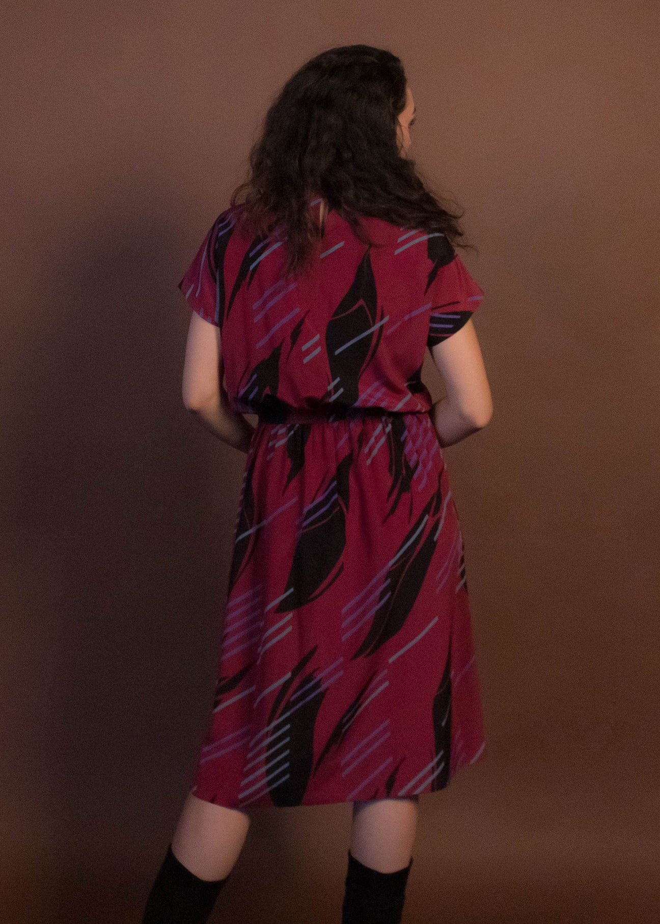 80s Abstract New Wave Dress