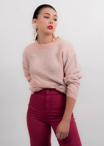 80s Silk Cable Knit Sweater