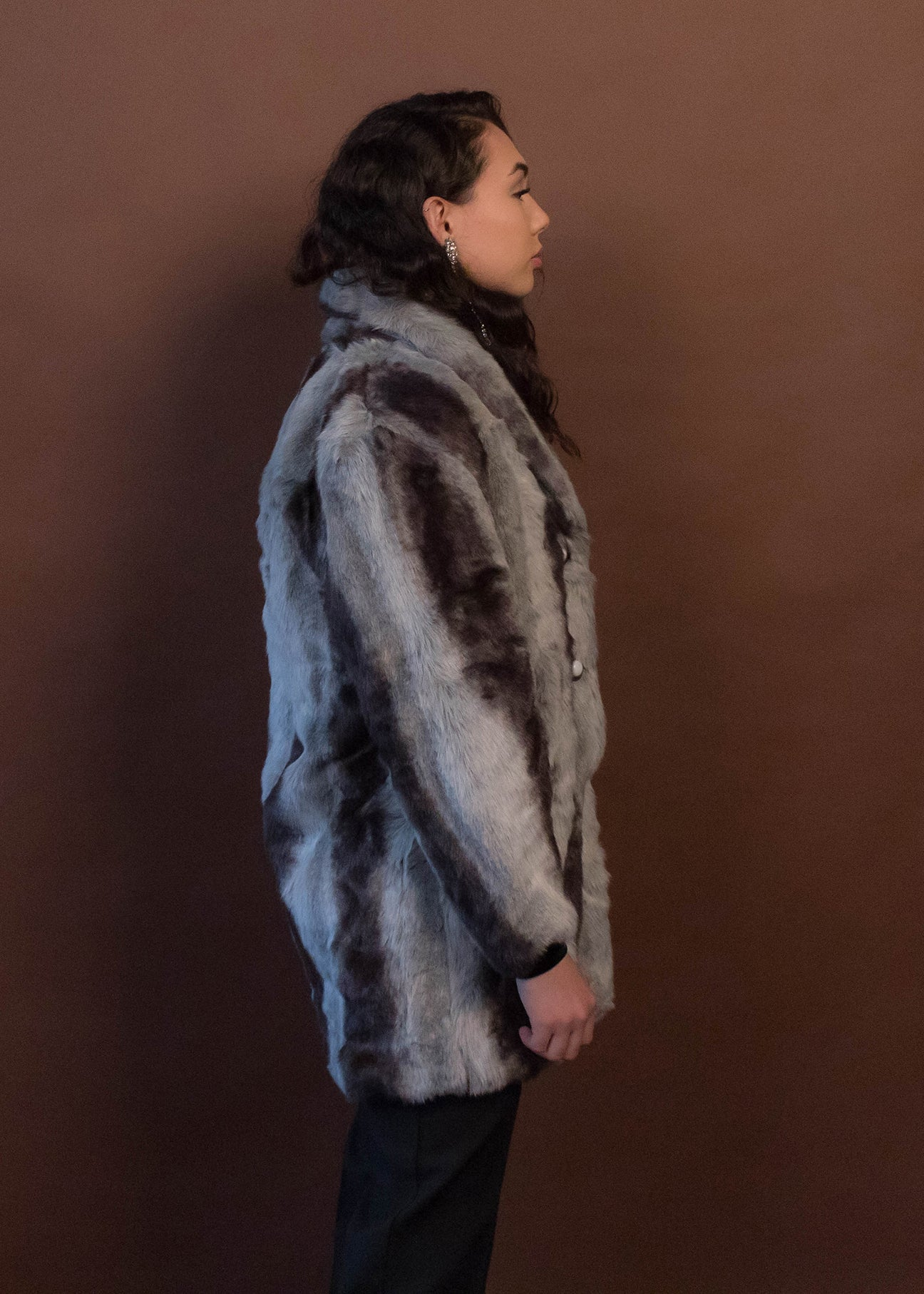 80s Raccoon Faux Fur