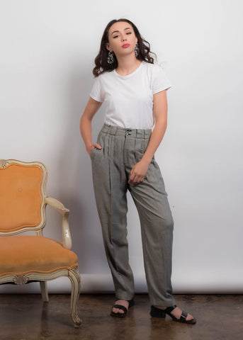 50s Plaid Cigarette Pants