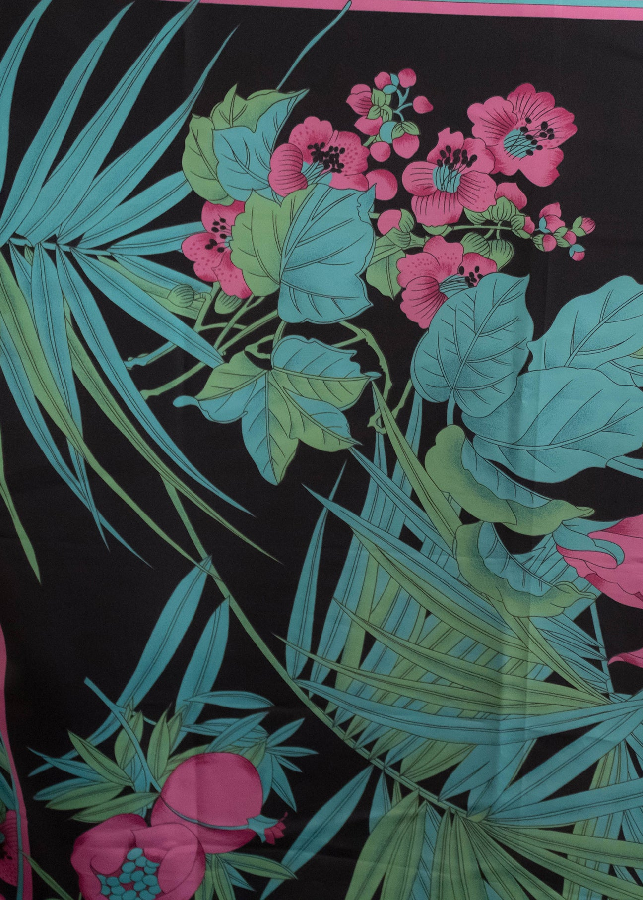 80s Tropical Print Scarf