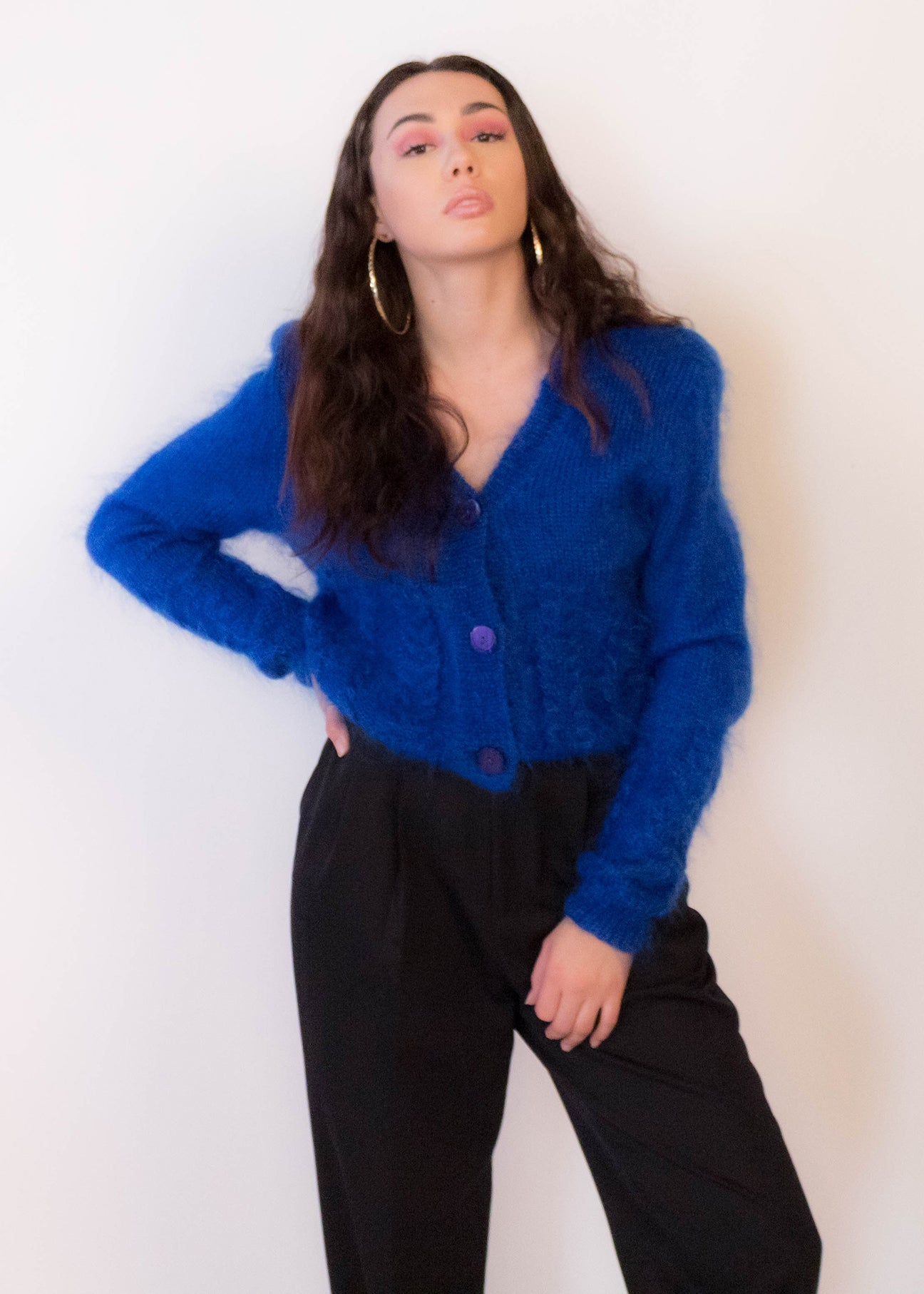 80s Mohair Wool Cardigan