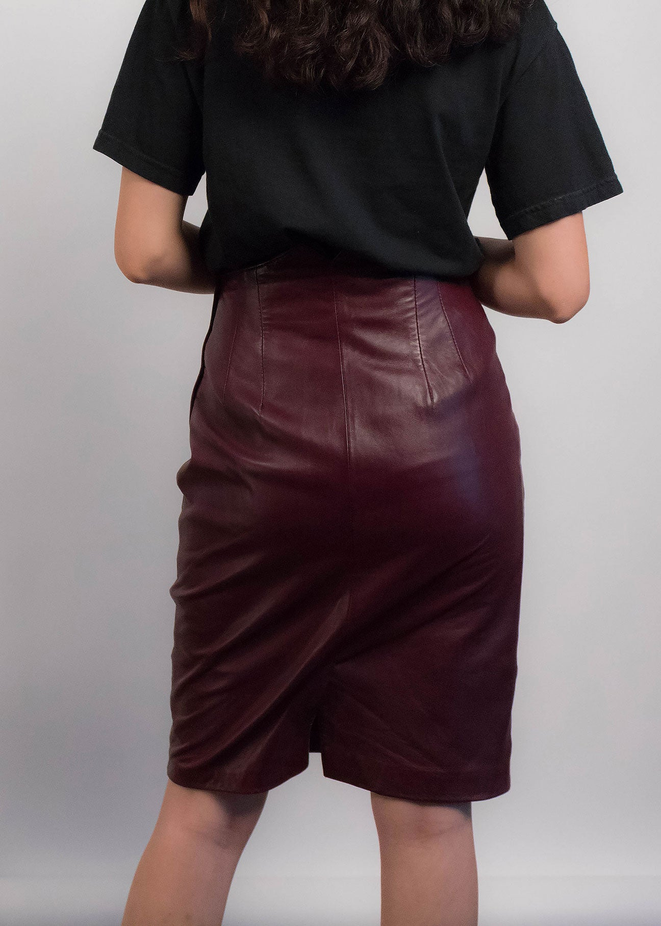 90s Leather Pencil Skirt
