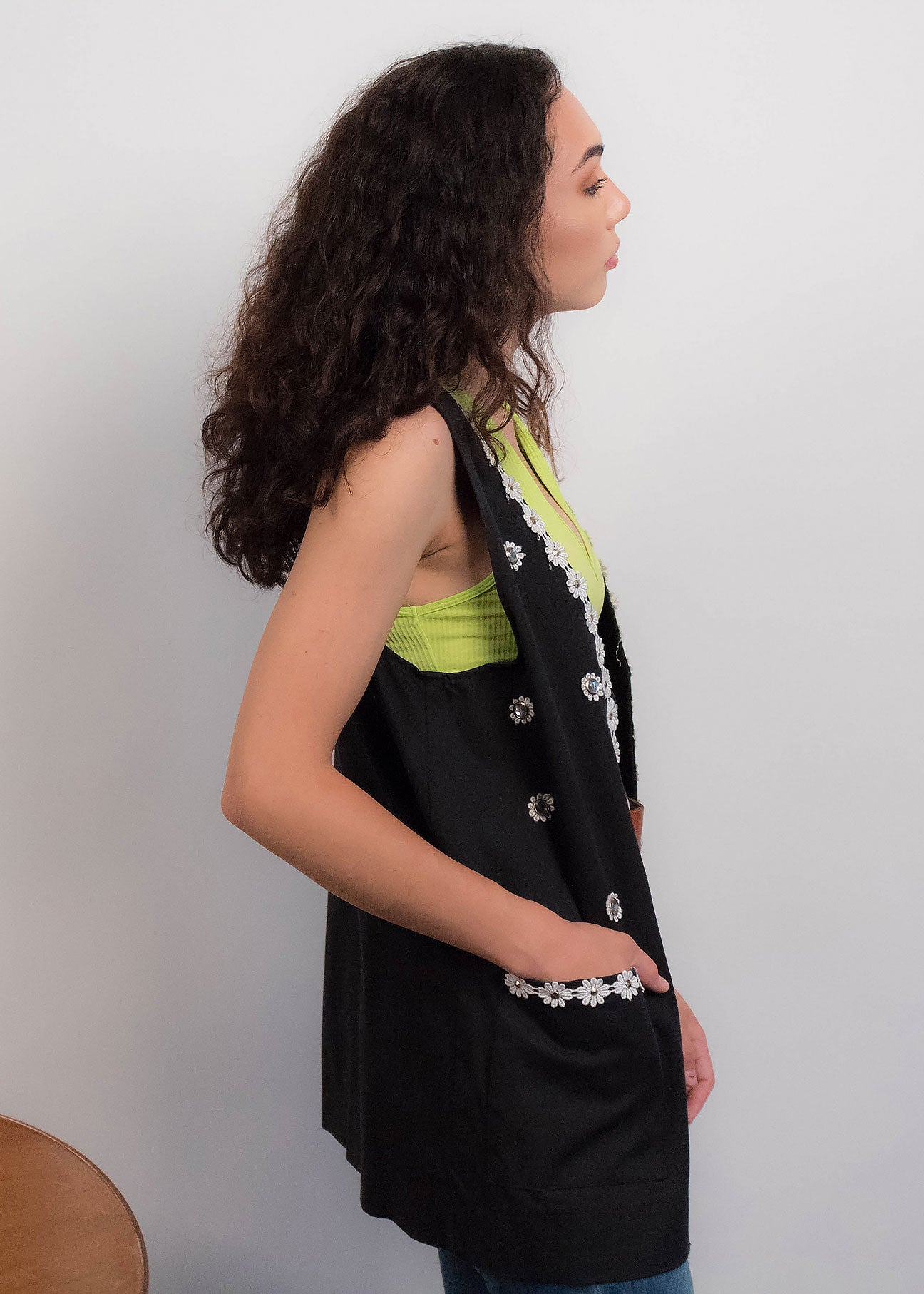 80s Sunflower Vest