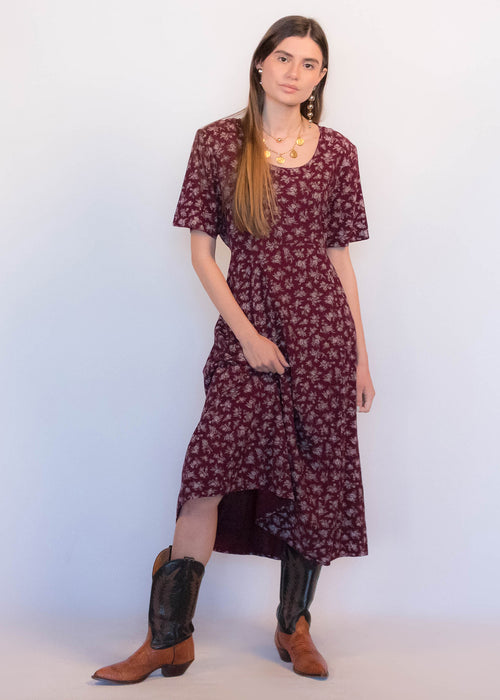 90s Empire Waist Floral dress