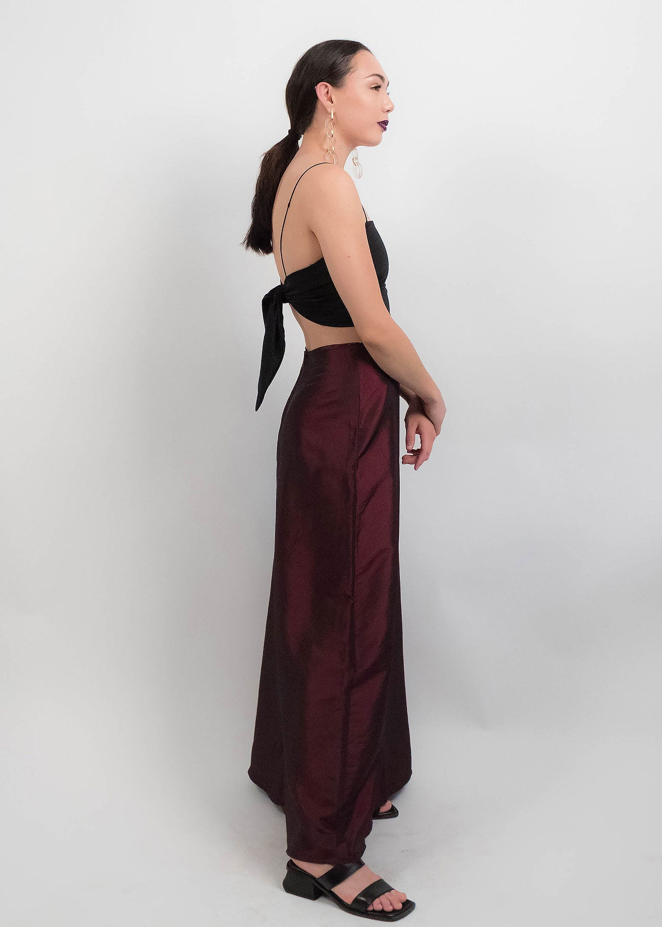 90s Iridescent Maxi Skirt