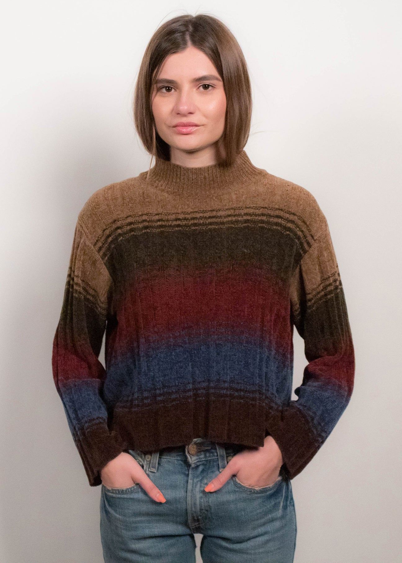 90s Chunky-Knit Ombre Sweater