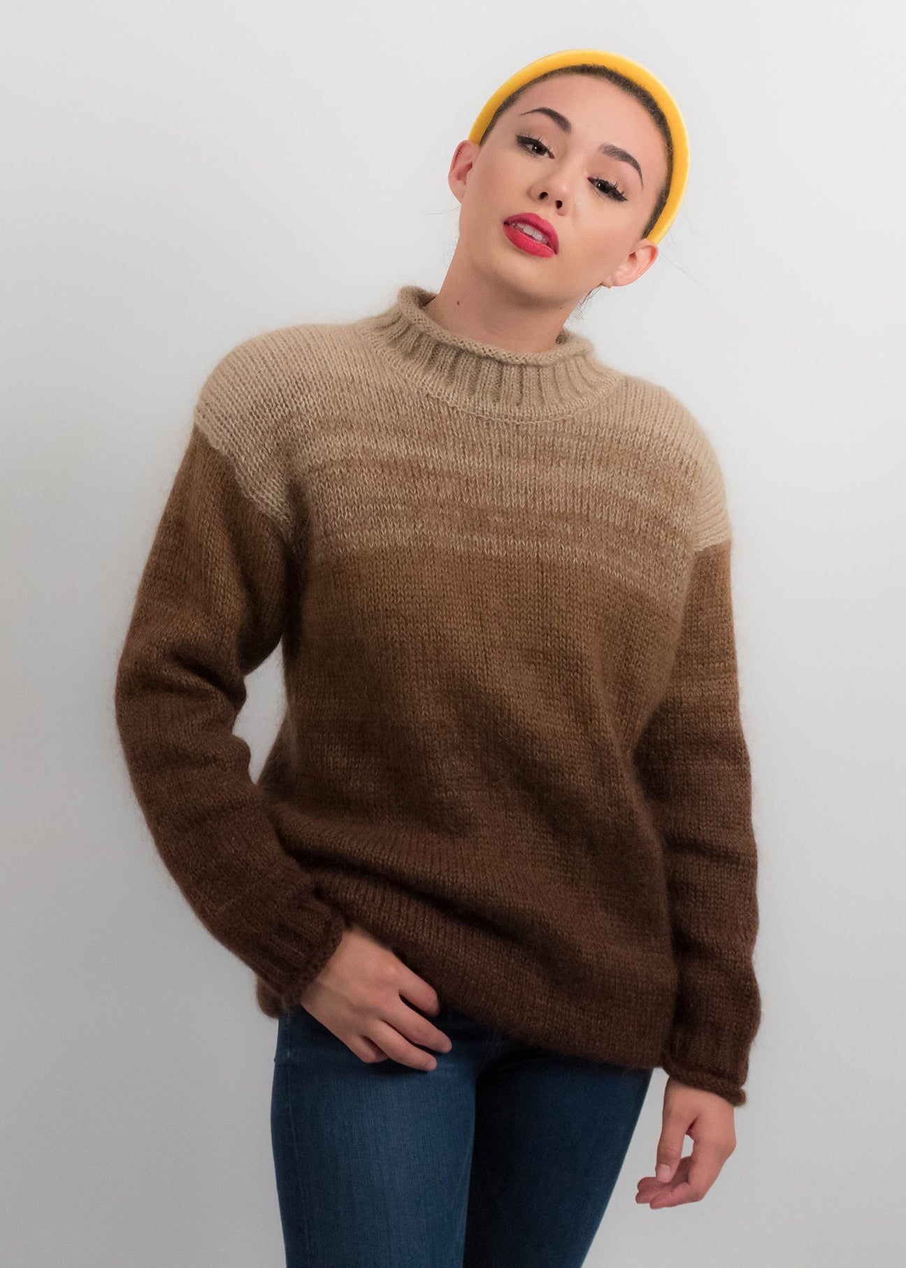 90s Ombre Mohair Sweater
