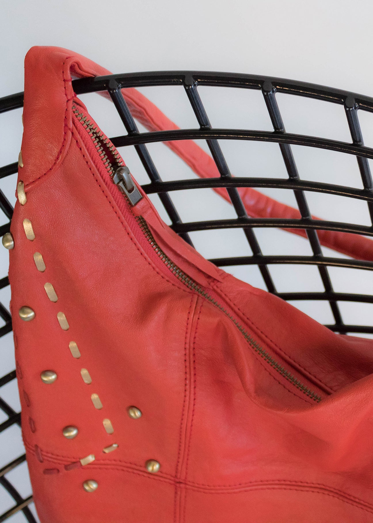 Y2K Red Leather Hobo Purse