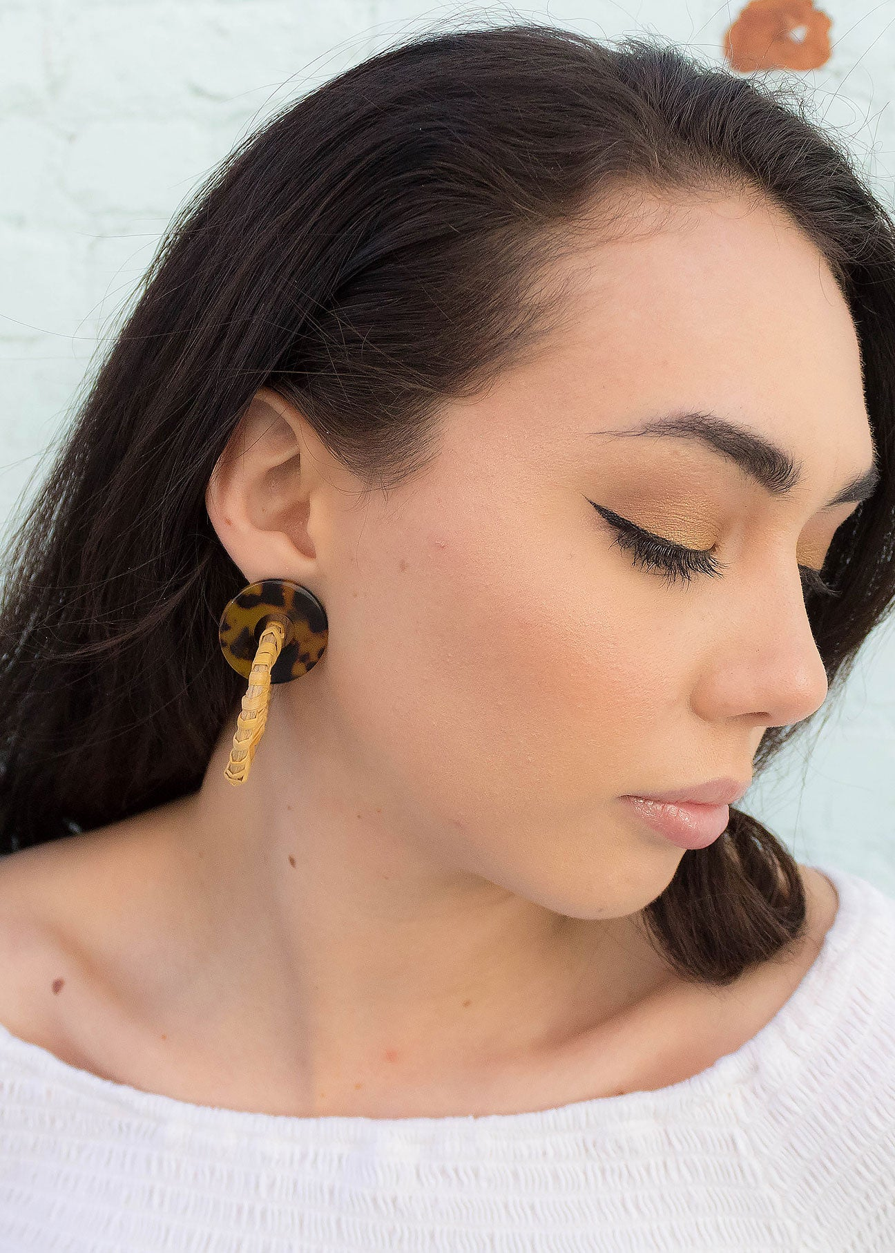 Acrylic Rattan Statement Earrings