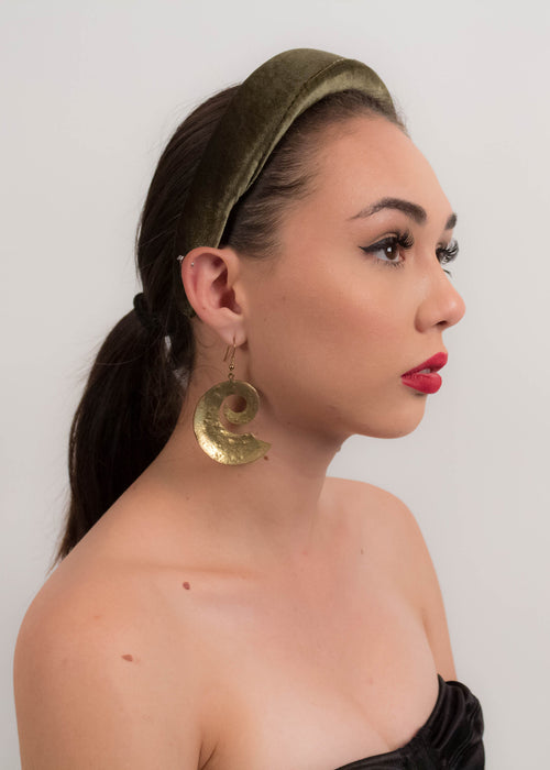 80s Brass Sculptural Statement Earrings