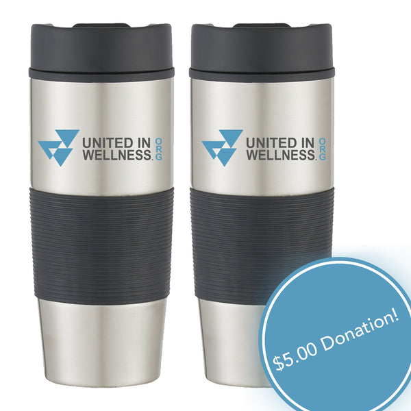 Two Stainless Steal Gripper Travel Mugs
