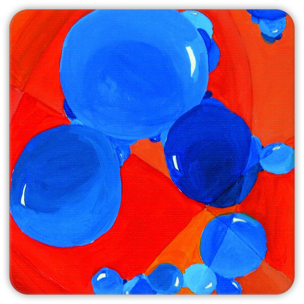 Orange & Blue Bubbles Coasters