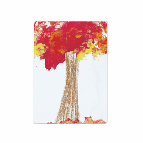 Red Tree Wrapped Canvas