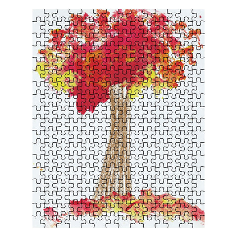 Red Tree Jigsaw Puzzle