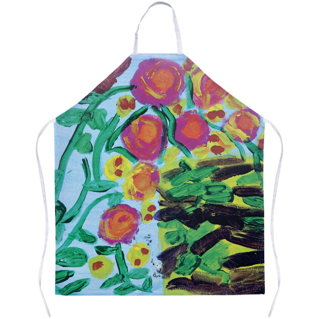Painted Flowers Apron