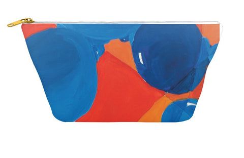 Orange & Blue Bubbles Accessory Pouch