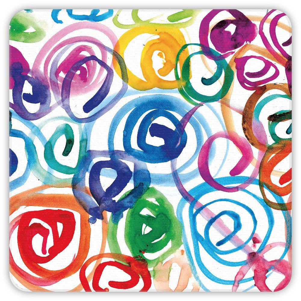 Watercolor Swirls Coasters