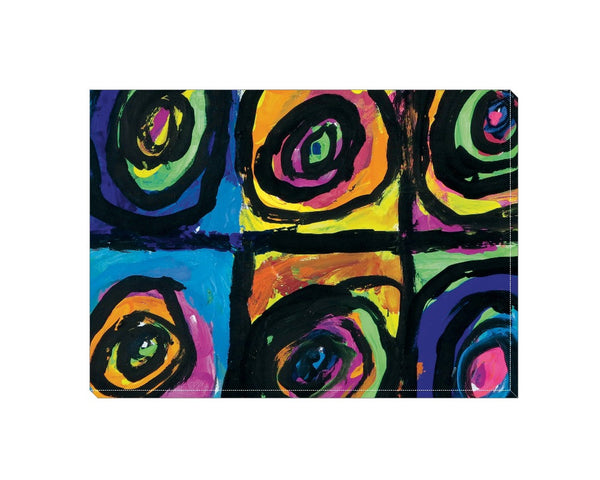 Bright Circles Wrapped Canvas