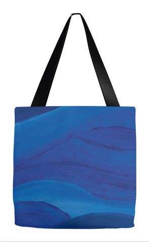 Blue Brushstrokes Tote Bag