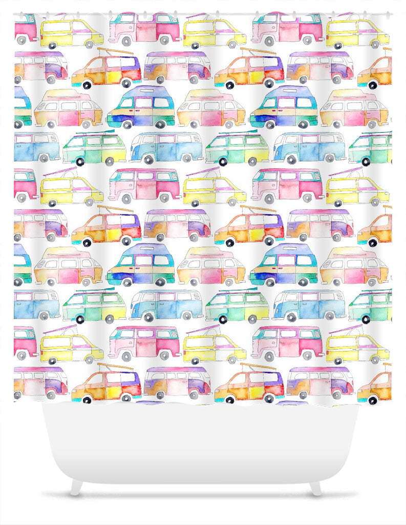 Campervans Shower Curtain