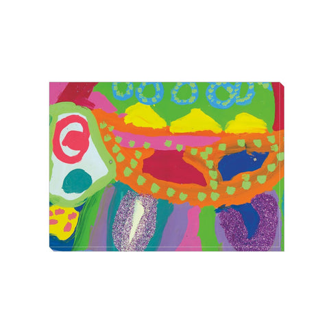Abstract Glitter Animal Wrapped Canvas