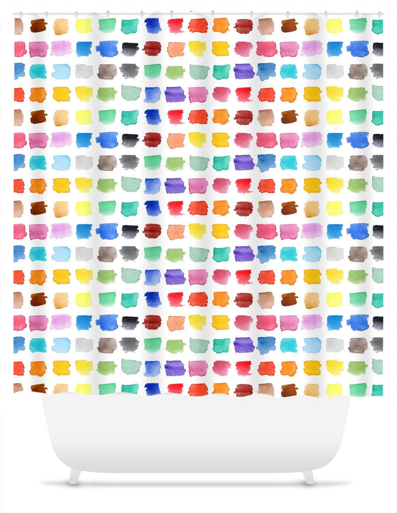 Watercolour Palette Shower Curtain