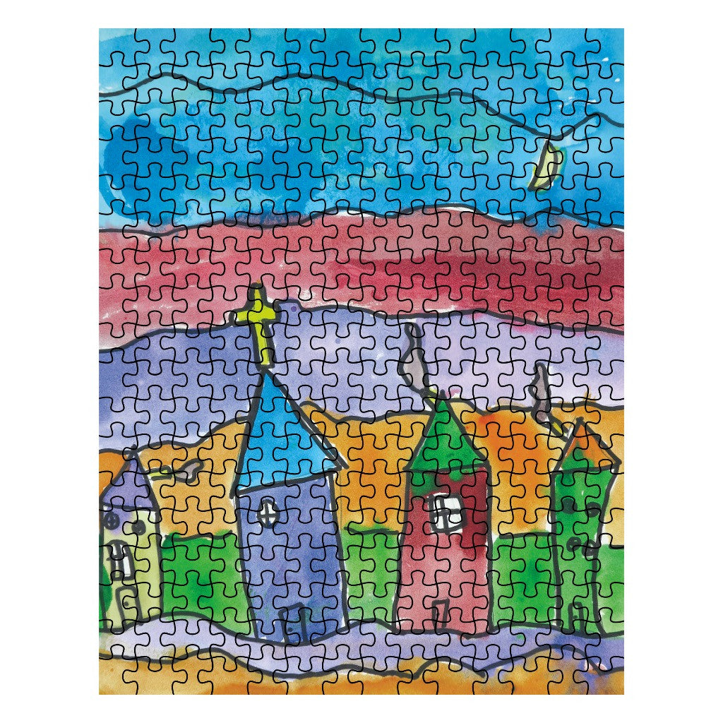 Church Town Jigsaw Puzzle