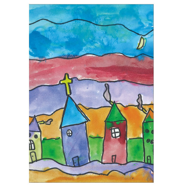 Church Town Note Cards
