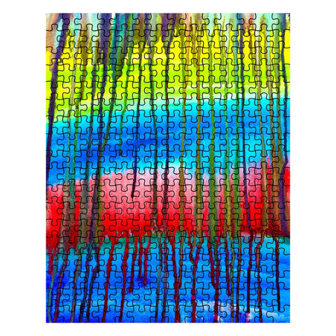 Colorful Icicle Abstract Jigsaw Puzzle
