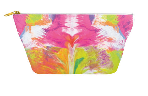 Pink Abstract Pouch