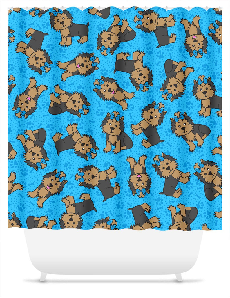 Yorkies Shower Curtain