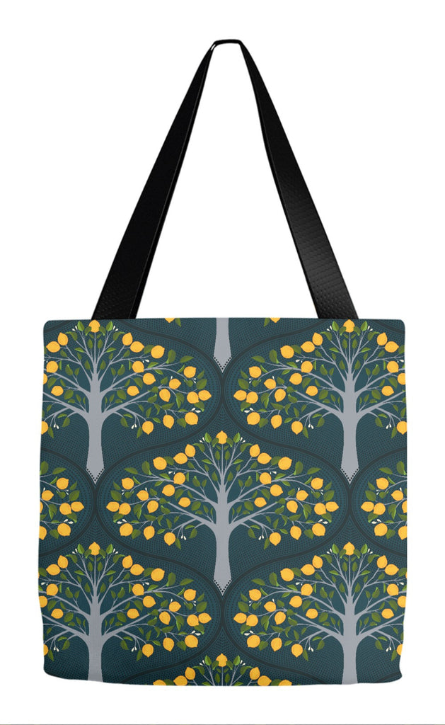 Midnight Lemon Tree Tote Bag