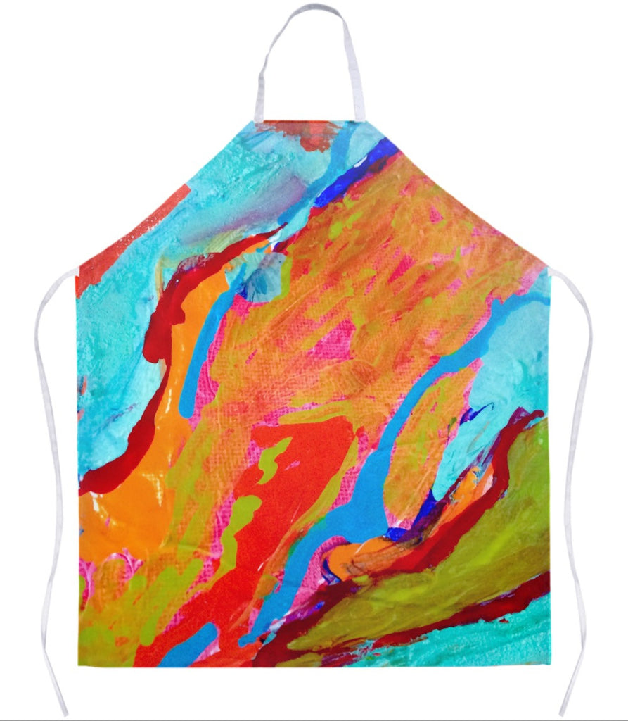 Marbled Paint Apron