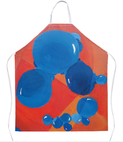 Orange & Blue Bubbles Apron