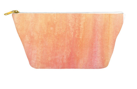 Orange Abstract Accessory Pouch