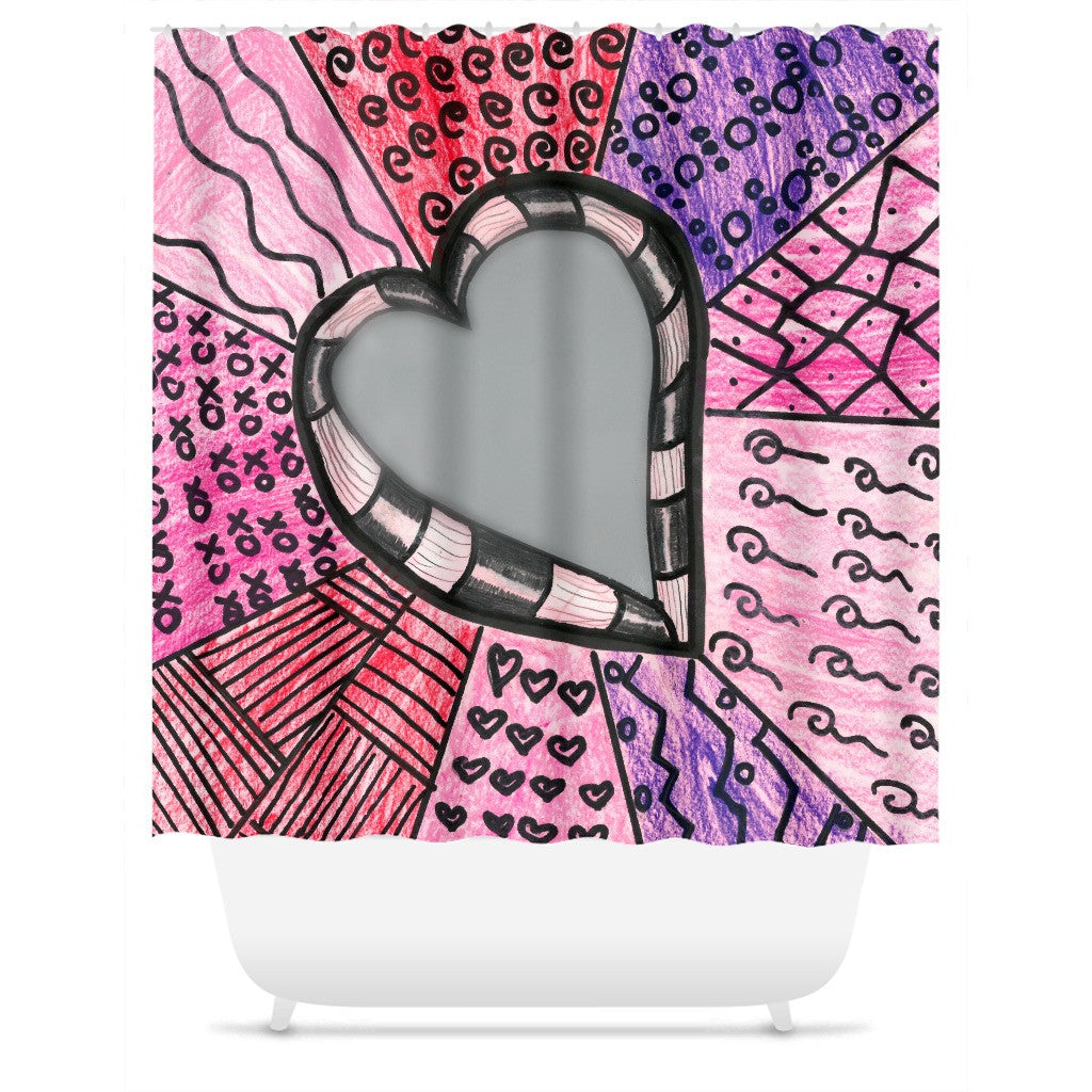 Hearts 2 Shower Curtain